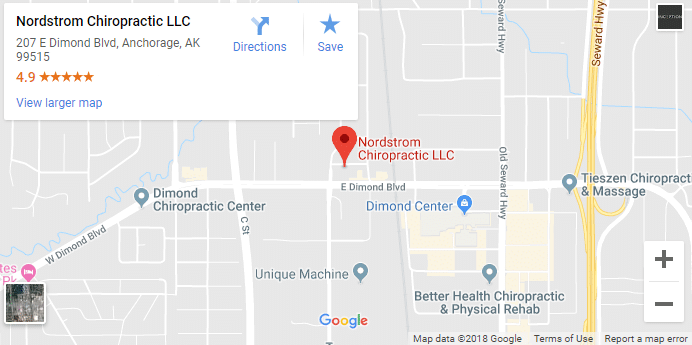 Anchorage AK Chiropractors Map